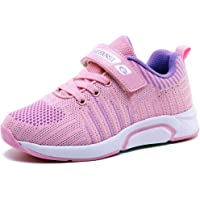 Girls Fitness Shoes Size 1 UK Kids Trainers Athletic Child Sneakers Sports Shoes Indoor Casual Outdoor Running Walking…