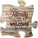 Unbekannt Jede Familie Hat Eine Geschichte Holz Puzzle Stück Wandschild 30,5x 30,5cm.