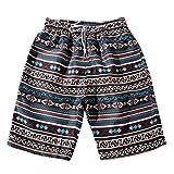 Hombres Pantalones de playa , ❤️ Manadlian Hombres de verano Pantalones de níquel de los troncos Parejas Playa Floral Bohe Bañador Talla extra (Marrón(Hombres), CN:XXXXXL)