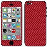 """Skin Apple iPhone 5S / SE """"FX-Carbon-Red"""" Designfolie Sticker"""