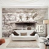 decomonkey | Fototapete Gemälde 350x256 cm XXL | Design Tapete | Fototapeten | Tapeten | Wandtapete | moderne Wanddeko | Wand Dekoration Schlafzimmer Wohnzimmer | Engel Home Skulptur Beige | FOB0201a73XL