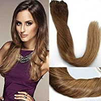20INCH 9pezzi, 120g/set capelli umani CLIP IN Extensions balayage Ombre