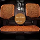 LONG Auto-Sitzkissen, Holzperlen Auto-Sitzkissen Qualität super komfortable Massagekissen,D,threepiece
