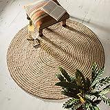 Indian Arts Fair Trade rund Jute und Baumwolle geflochten Teppiche (150cm Durchmesser)