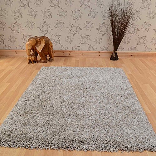 Twilight Beige Shag Rug Rug Size: 120 cm x 170 cm (3 ft 11 in x 5 ft 7 in)