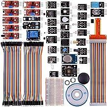 Kuman Kit Módulo de Sensores 38-1 con Tutorial para Raspberry Pi RPi 3 2 Modelo B B + A A + 44pcs Componentes K47