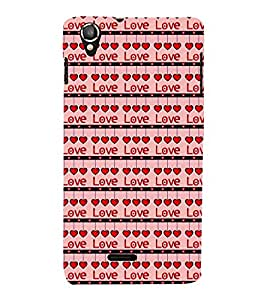 Vizagbeats Love and droping hearts Back Case Cover for Lava Iris 800