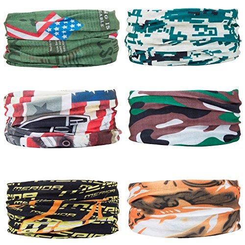 ZeWoo 6 Pack Copricapo Multifunzione Fascia Bandana Sciarpa di Riciclaggio Della Bici (set 4)