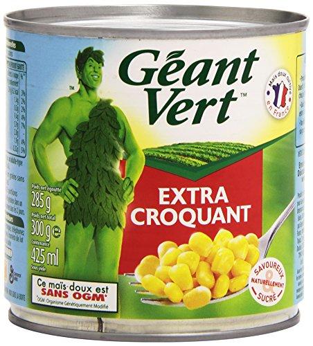 Géant Vert Maïs Extra Croquant la Boite de 285 g - Lot de 6