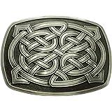 Belt Buckle, Rectangle Celtic Knot Kilt Belt Buckle Western Keltic Buckles for Men Women, American Keltic Irish Scottish Celt