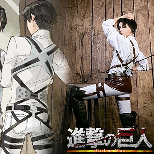 CoolChange Attack on Titan 3D Manöver Ausrüstung PU Leder Geschirr Harness (Attack On Titan Kostüm Sasha)