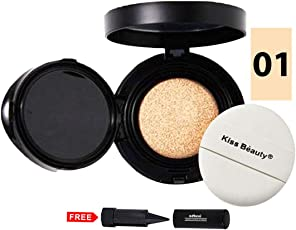Kiss Beauty Its Top CC Professional Magic Snow Cushion SPF50 9581-01 With Free Adbeni Kajal Worth Rs.125/-