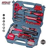 Apollo 49 Piece Home Office Garage Tool Kit including Heavy Duty Fiberglass Hammer