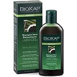 BIO KAP Bellezza Shampoo Nero, Lozione per capelli con Argilla nera e Carbone vegetale, Shampoo detossinante che purifica il