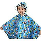 Poncho impermeabile per bambini - Unisex bambino Bambino di pioggia incappucciati Poncho Blu/M