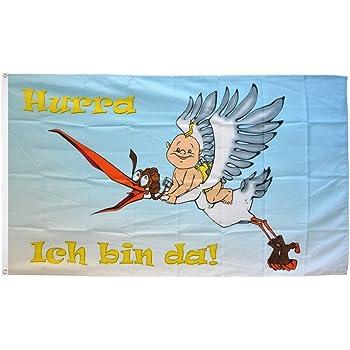 Flagge Hurra ein Junge 90 x 150 cm Fahne