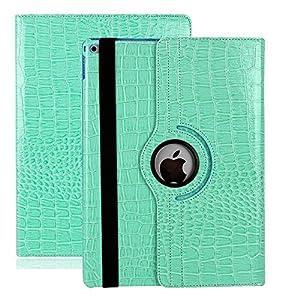 Avril Tian iPad-Schutzhülle, um 360Grad drehbarer Ständer, schlanke Schutzhülle mit Bildschirmschutz für Apple iPad Pro, 9,7-Zoll