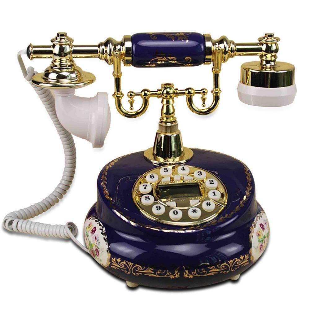 BBIAY Retro telefono, Stile antico, Ceramica a colori, ID chiamante, Retroilluminazione intelligente
