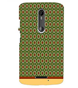 PrintDhaba Circular Pattern D-1532 Back Case Cover for MOTOROLA MOTO X3 (Multi-Coloured)