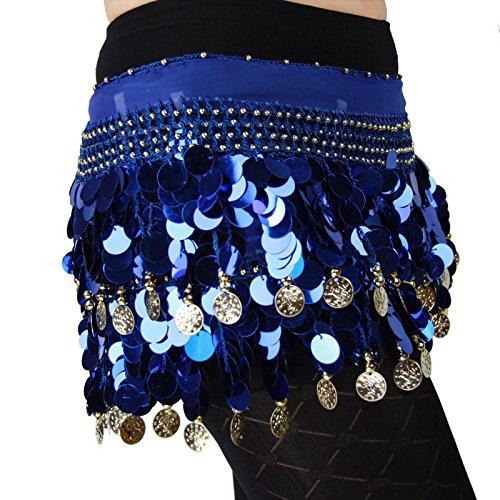 Turkish Emporium HÜFTTUCH Hüftgürtel BAUCHTANZ Pailletten TUCH Gürtel BELLY DANCE Münztuch KOSTÜM (Bauchtanz-kostüme-accessoires)