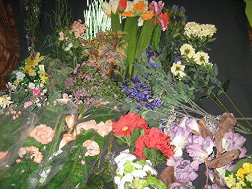 70 Stiele Kunstblumen Blumenmix Blumenstrauss sehr viele Blüten teilweise mehrere Blüten pro Stiel sehr viele Sträuße verschiedenfarbig Beispielbild jedes Paket wird neu gemischt NEU TOP Direkt vom Großhändler 15 bis 80cm lang Teilweise geringe Lager...