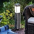 Esotec Solar Standleuchte Rattan, Höhe 50 cm, Lichtfarbe warmweiß 102073