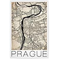 """artboxONE Poster 30x20 cm """"Retro City Map Prague"""" von Künstler David Springmeyer"""