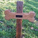 Rovere massiccio a forma di osso di cane Memorial Cross