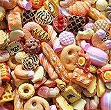 30Pcs assortiti cute Candy Slime perline frutta dessert gelato in resina ciondoli fette Flatback bottoni per artigianato accessori scrapbooking del telefono Decor, Orange, 10mm-25mm
