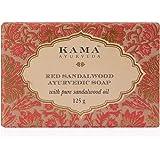 Kama Ayurveda Red Sandalwood Ayurvedic Soap with Pure Sandalwood Oil, 125g