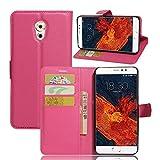 Tasche für Meizu Pro 6 Plus Hülle, Ycloud PU Ledertasche Flip Cover Wallet Case Handyhülle mit Stand Function Credit Card Slots Bookstyle Purse Design Rose Red