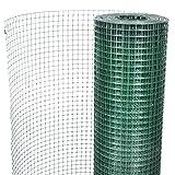 Festnight- 1m x 10m Gartenzaun Drahtgitter Maschendraht Wühlmausschutz Volierendraht Verzinkter Stahl 12x12mm