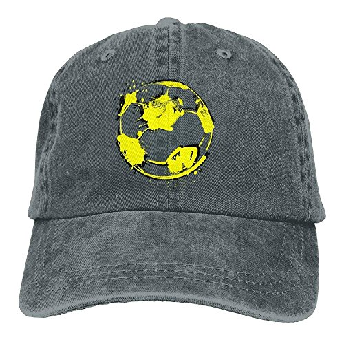 Aoliaoyudonggha Graffiti Football Unisex Adjustable Baseball Caps Denim Hats Cowboy Sport Outdoor