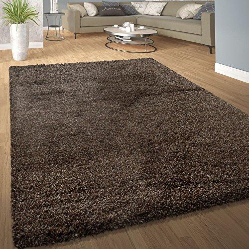 Pile shaggy tappeto soffice morbido pelo lungo moderno universale colori marrone, dimensione:40x60 cm