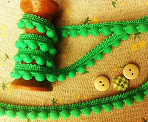 Pearl Pompom-Bommel - beste Qualität Pompoms *Größe Mini 10mm x 1m - 26 Farben (Meterpreis) grün -
