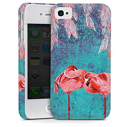 Apple iPhone 5s Housse étui coque protection Été Flamands roses Rose vif Cas Premium mat