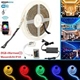 RGBWW IP65 LED Streifen Arbeitet mit Alexa, Google Home, IFTTT, Wifi Wireless Smart Phone Gesteuert Led Strip 5m Lichterkette LED Band Lichtleiste Leiste Full Kit