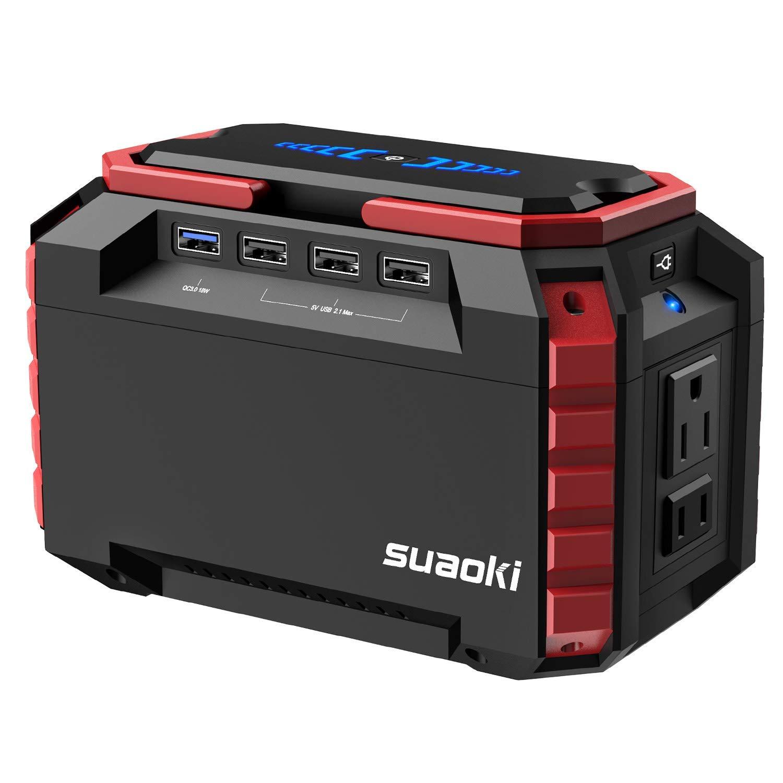 SUAOKI Generador Solar Portátil 150Wh(3.7V 40500mAh), Generador de camping, fuente de alimentación de Litio (Carga QC3.0…