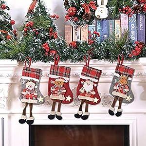 BESTZY Medias de Navidad 4PCS