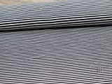 0,5 m Baumwoll Jersey Ringel, Streifen, Basics - Breite ca.