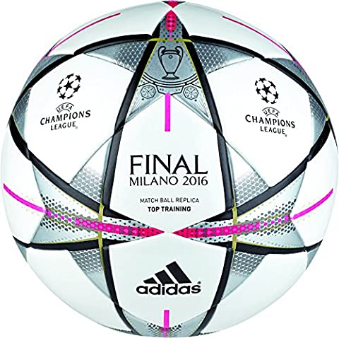 adidas Fußball Finale Milano Top Trainings, White/Black/Silver Met., 5, AC5496