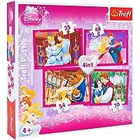 Trefl 07305 - Puzzle 4 in 1 Principesse Disney