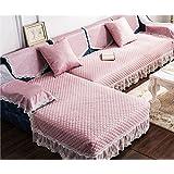 KA-ALTHEA- De estilo europeo sofá cojín del sofá cojín de tela moderna funda de sofá toalla cubierta de sofá minimalista cuatro estaciones -El amortiguador del sofá conjuntos de sofás Funda ( Color : 110*110cm )