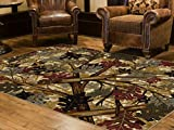 5'3'' x 7'3'' : Universal Rugs Lodge Novelty 5 ft. 3 in. x 7 ft. 3 in. Area Rug , Beige