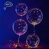 LEEHUR Helium Balloons, 4 Stück Helium Balloon Gas Leucht Luftballon Weiss Zuhause Dekoration Zum Party Hochzeit Weihnachten Festival
