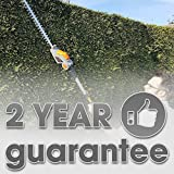 Long Reach Cordless Hedge Trimmer 18V/20V-Max Lithium-Ion 2.4m Telescopic Extendable Pole 450mm Cutting Length, 5 Positions for Tall Hedges, Battery Powered Battery, Charger & Shoulder Strap Included Bild 5