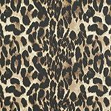 Fabulous Fabrics Hosenstretch Viskose Leopard – beige — Meterware ab 0,5m — zum Nähen von Abend- und Partymode, Blazern und Hosen