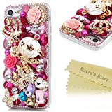 "iPhone 7 Case (4.7"") - Mavis's Diary 3D Handmade Luxury Bling Crystal Golden"
