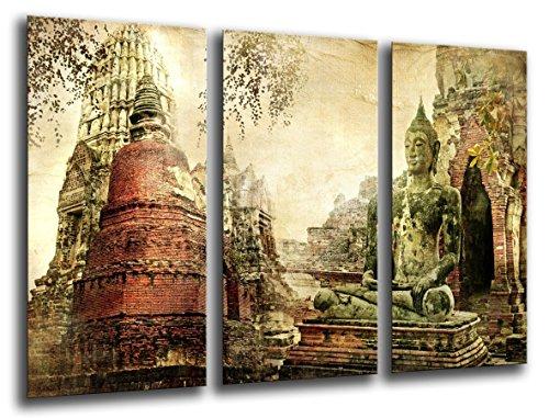 Cuadro Buda fotografico base madera, 97 x 62 cm, Buda Buddha Retro ref. 26071