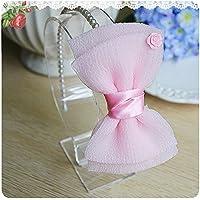 Miya® 1Stück Super dolce Baby bambina perla Haareif per capelli con grande bella fiocco in Satin e velo, fascia per capelli, colore
